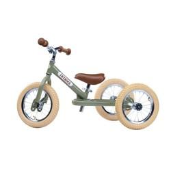Tricycle transformable en draisienne Trybike vert