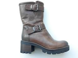 Demi-botte 10140MY - Chaussures MANAS - MANDARINE - Voir en grand