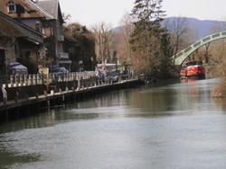 CANAL DE CHANAZ SAVOIE BATEAUX A ROUES