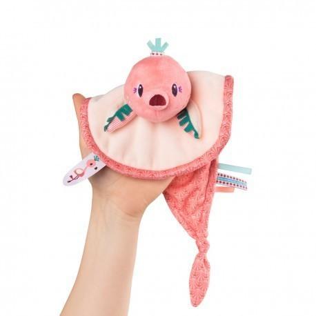 Doudou marionnette flamant rose Anaïs Lilliputiens  - Voir en grand