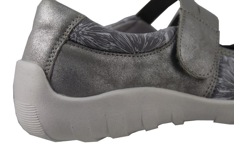 Chaussure pour semelle orthopédique femme ballerine AQR3510-1 - Voir en grand