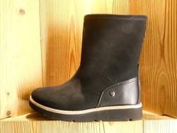 Bottines femme d'hiver PANAMA JACK en cuir velours gras noir réversible - Voir en grand