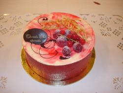 Vacherin glacé Vanille-Framboise - Voir en grand