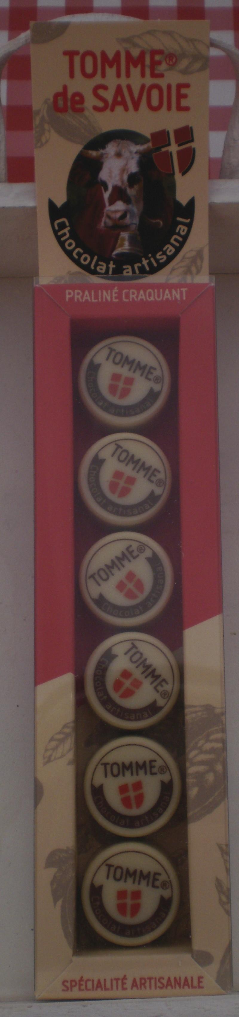 """CHOCOLAT DE SAVOIE """"PETITES TOMMES """" ETUI 6 TOMES DE SAVOIE - Voir en grand"""