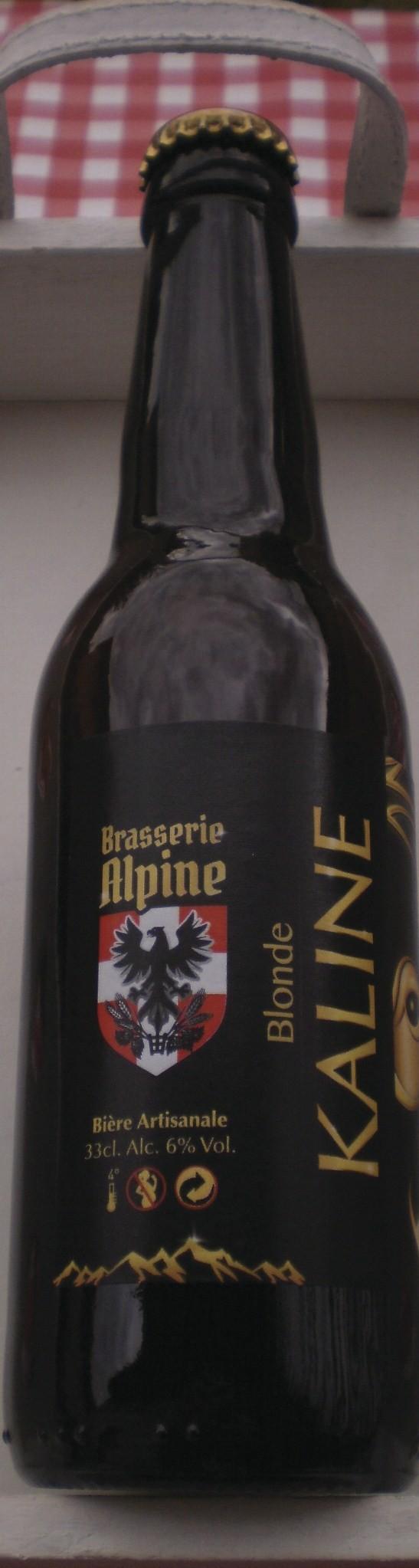 BIERE BLONDE DE SAVOIE BRASSERIE ALPINE - Voir en grand