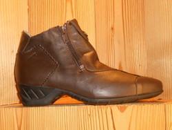 Bottines femme ARCUS en veau lisse noir ou marron chaussures à talon - Voir en grand