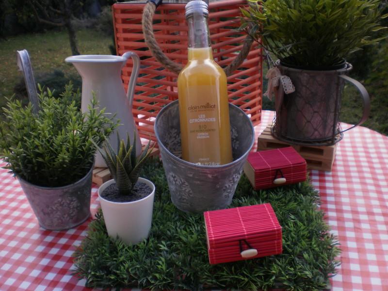 Citronnade bio Citron-passion Alain Milliat 33 cl - Voir en grand