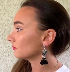 boucle d'oreilles porter de 6 cm - Voir en grand