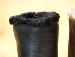 Bottines en cuir gras marron noir ou vison PANAMA JACK à talon  - Voir en grand