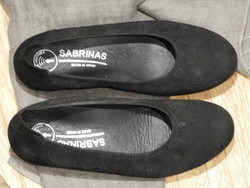 Ballerine cuir noir semelle amovible SABRINAS très confortable - Voir en grand