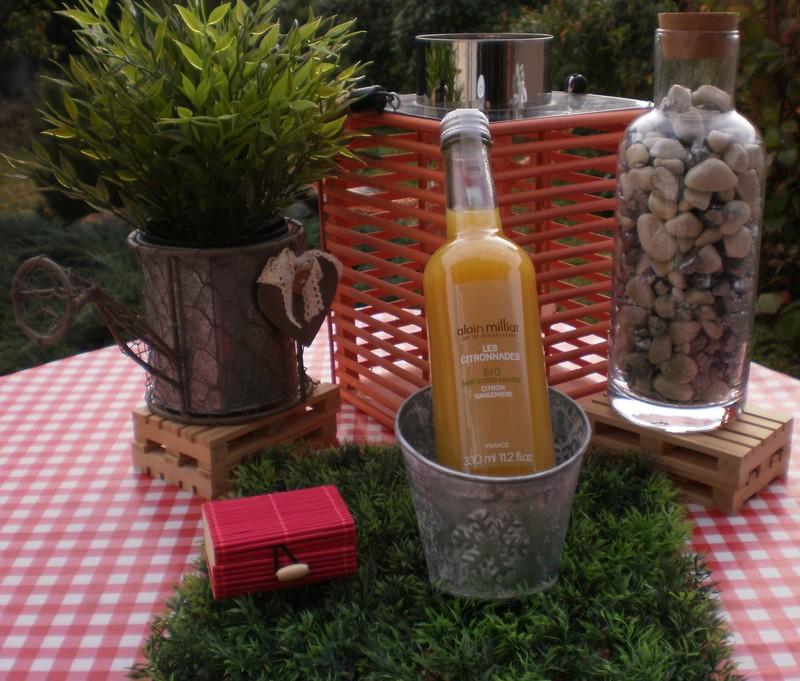 Citronnade bio citron-gingembre Alain Milliat Drôme - Voir en grand