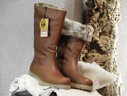 Bottes d'hiver réversible cuir gras marron PANAMA JACK - Voir en grand
