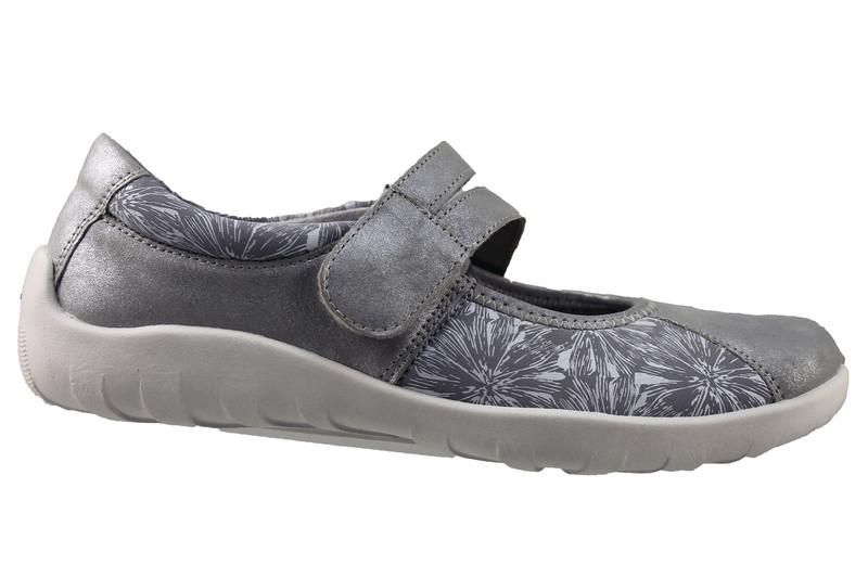 Chaussure pour semelle orthopédique femme ballerine AQR3510- - Voir en grand