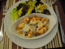 Cassolette de crevettes - Voir en grand