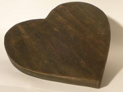 DESSOUS DE PLAT COEUR EN BOIS - ART DE LA TABLE MONTAGNE - DE JADIS A DEMAIN - Voir en grand