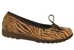 chaussure pour semelle orthopédique femm ballerine ahkarla11 - Chaussure Orthopédique CHAUSSON & TOILE - PODOLINE - Voir en grand