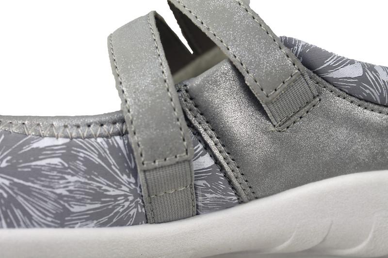 Chaussure pour semelle orthopédique femme ballerine AQR3510-3 - Voir en grand