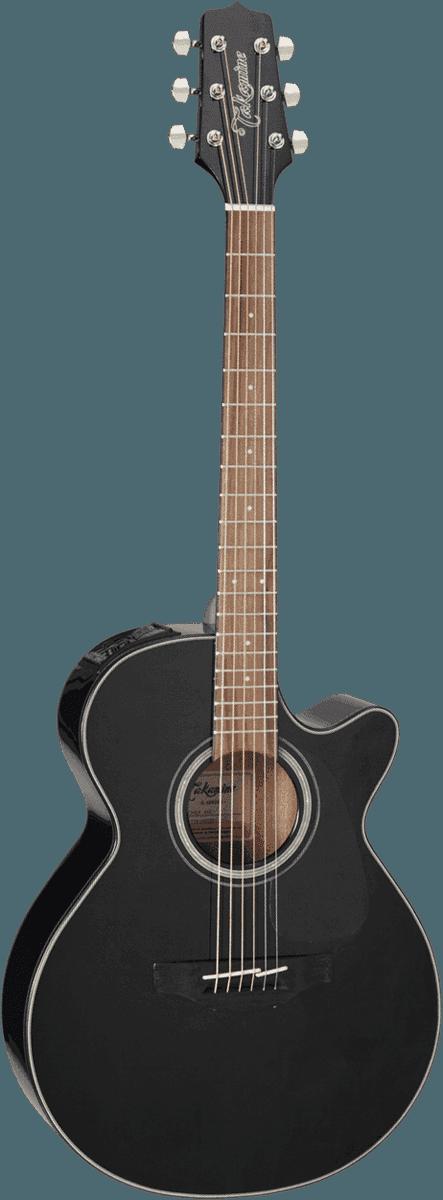 Guitare folk Takamine GF30CEBLK - Voir en grand