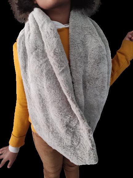 echarpe tour de cou anako grise - echarpe - CMANOU - Voir en grand
