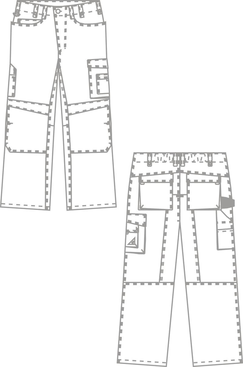 Tenue professionnelle - pantalon de travail  - Voir en grand