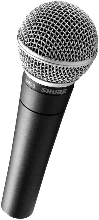 Micro Shure filaire SM58 - Voir en grand