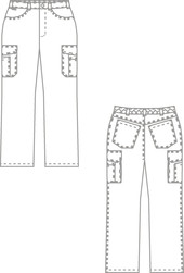 Pantalon style jean BP - Vêtement profession médicale