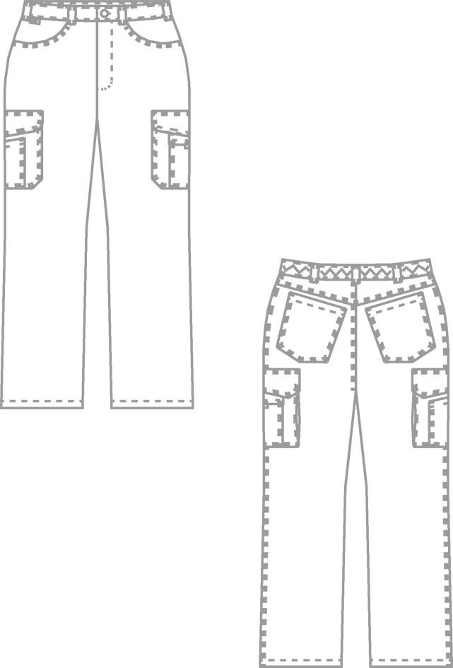 Pantalon style jean BP - Vêtement profession médicale - Voir en grand
