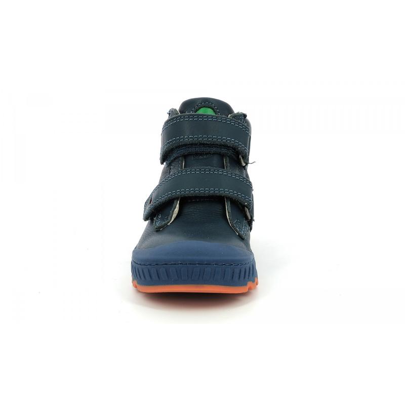Kickers Kick jump bleu marine orange - Voir en grand