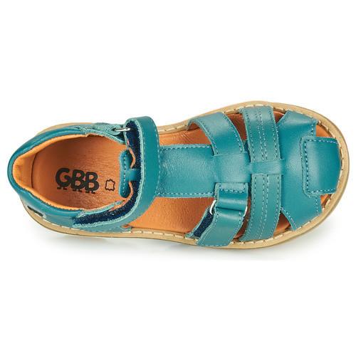 Chaussures GBB MITRI AD257 BLEU CANARD - Voir en grand