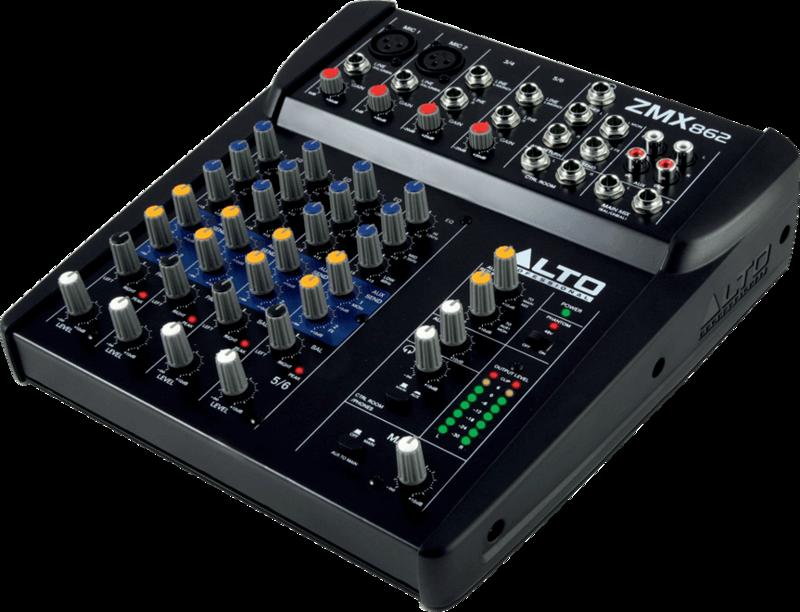 Table de mixage Alto ZMX862 - Voir en grand