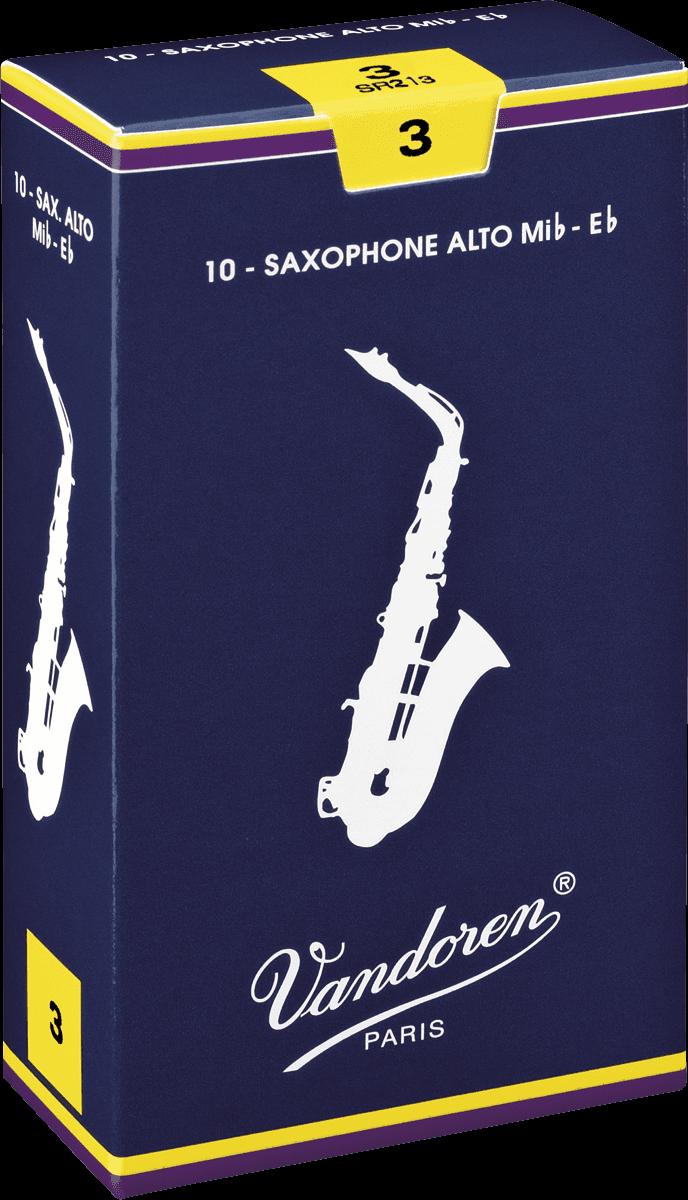Anches Saxophone Alto Mib Vandoren Traditionnelles - Voir en grand