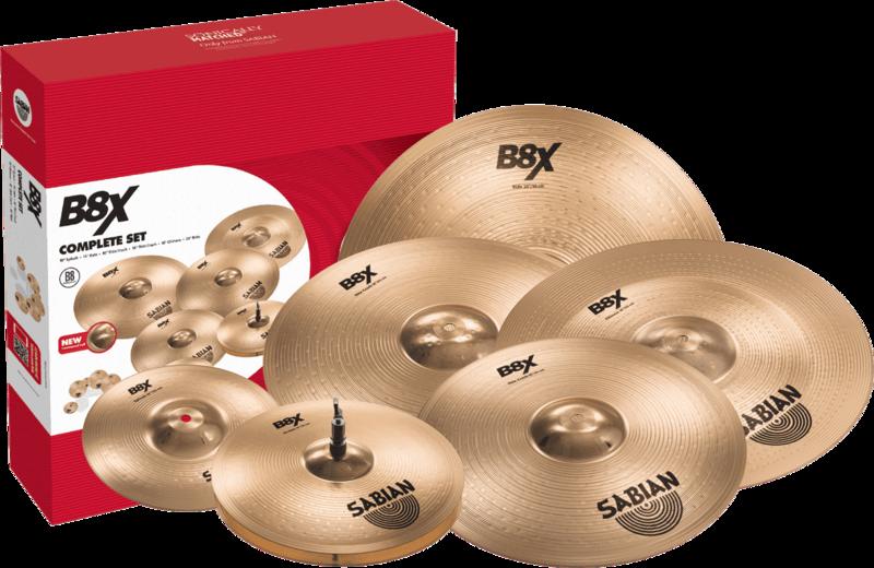Pack Cymbales B8X 45006X - Voir en grand