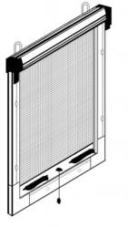 Moustiquaire enroulable verticale - Pose de face.JPG