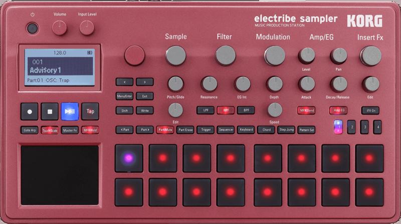 Electribe Korg Echantillonneur & séquenceur ELECTRIBE2S-RD-2 - Voir en grand