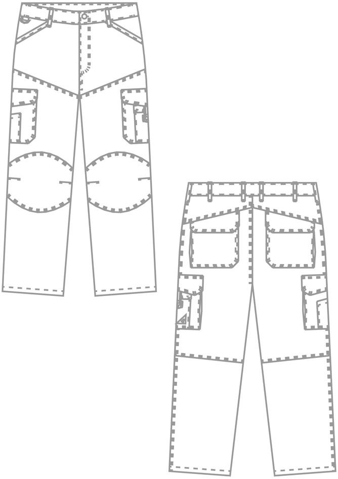 pantalon de chantier BP fonctionnel et résistant - Voir en grand