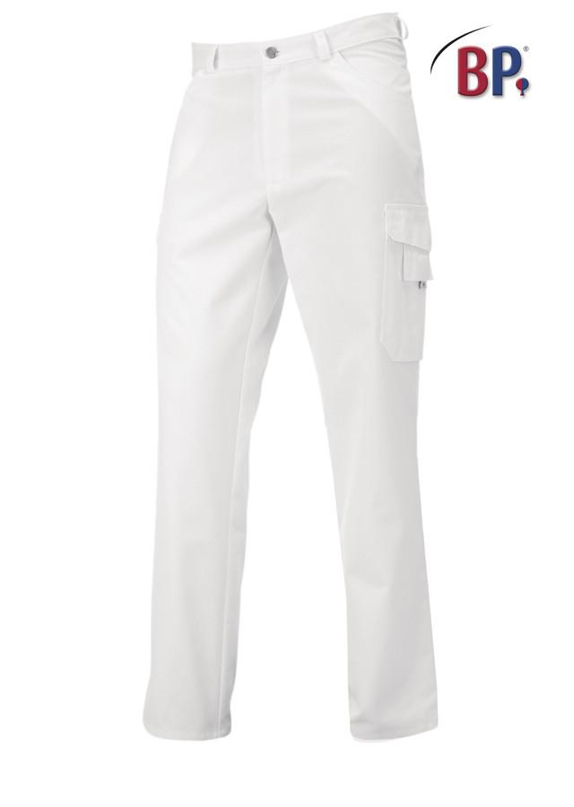 Pantalon blanc BP, coupe jean avec 2 poches cuisses - Voir en grand