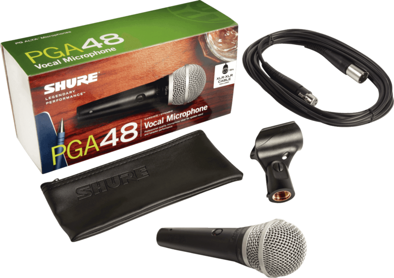 Micro Shure filaire PGA48-XLR - Voir en grand