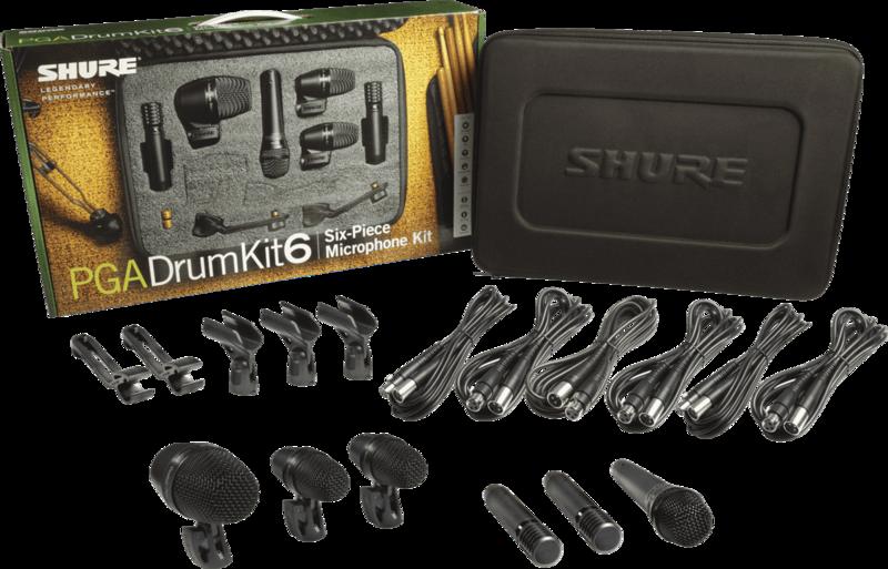 Micro filaire Shure Batterie PGADRUMKIT6 - Voir en grand