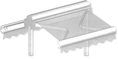 Store banne double pente avec capot de protection - Voir en grand