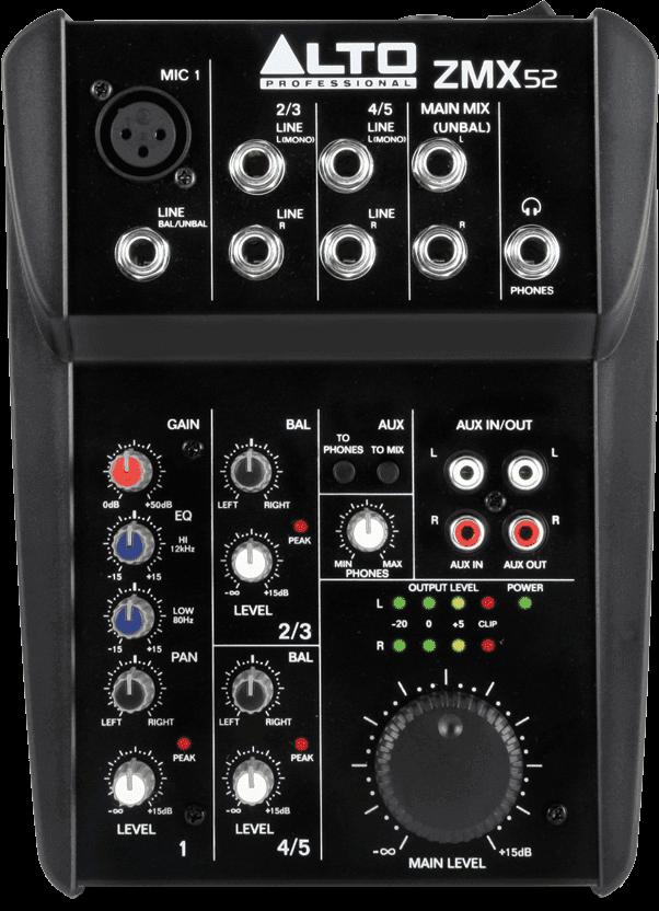 Table de mixage Alto ZMX52-2 - Voir en grand