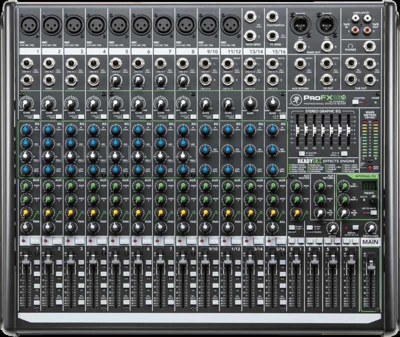 Console de Mixage Mackie PROFX16V2 - Voir en grand