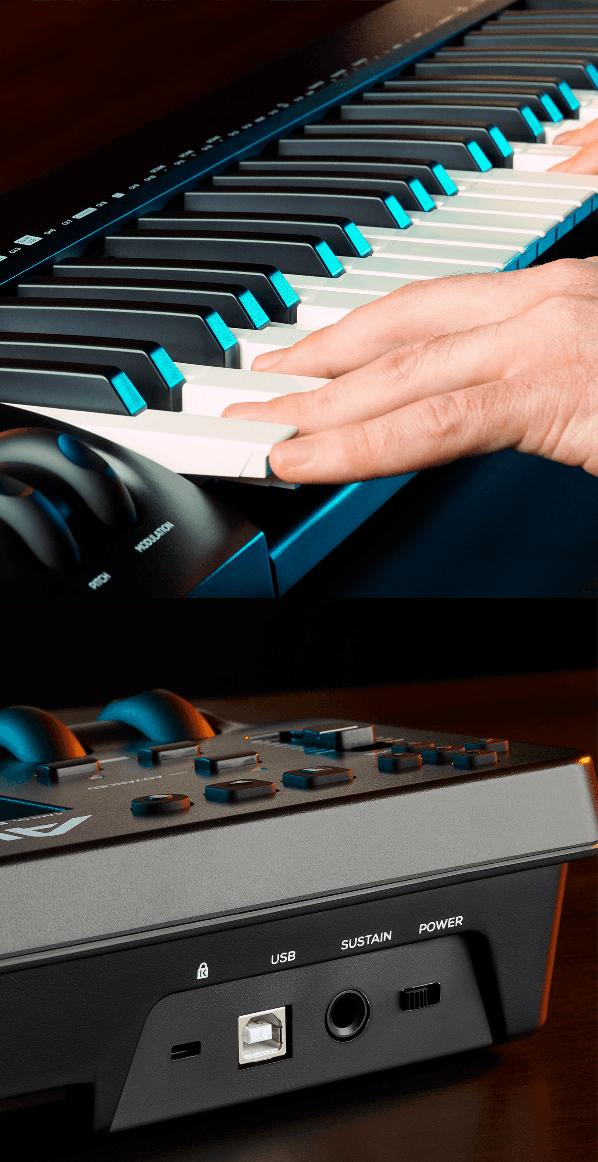 Clavier maître Alesis Q49MKIII-4. - Voir en grand