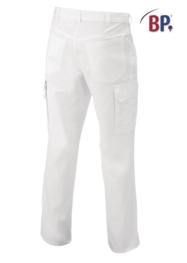 Pantalon médical poly/coton avec taille élastique réglable - Voir en grand