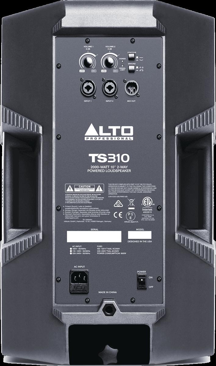 Enceinte Alto Pro SONO TS310 - Voir en grand