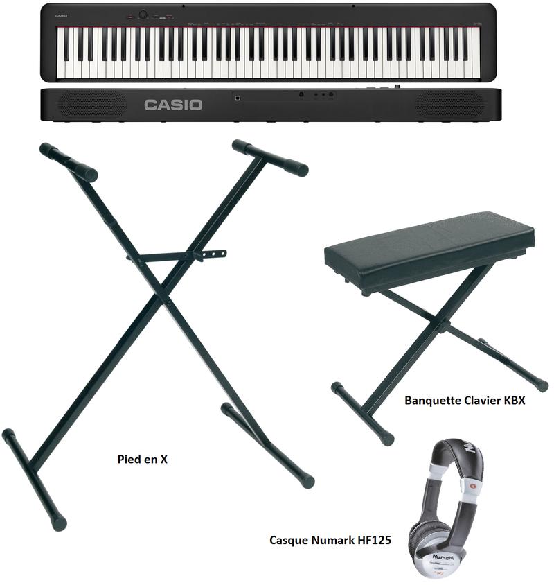 Pack Piano numérique Casio CDP-S100 - Voir en grand