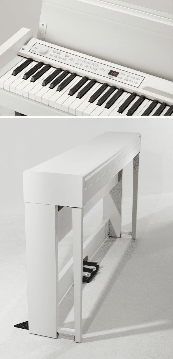 Piano Numérique Korg C1 Air-WH-2. - Voir en grand