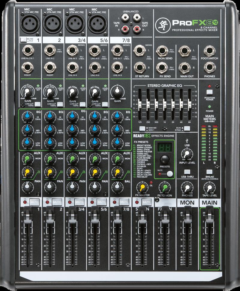 Console de Mixage Mackie PROFX8V2 - Voir en grand
