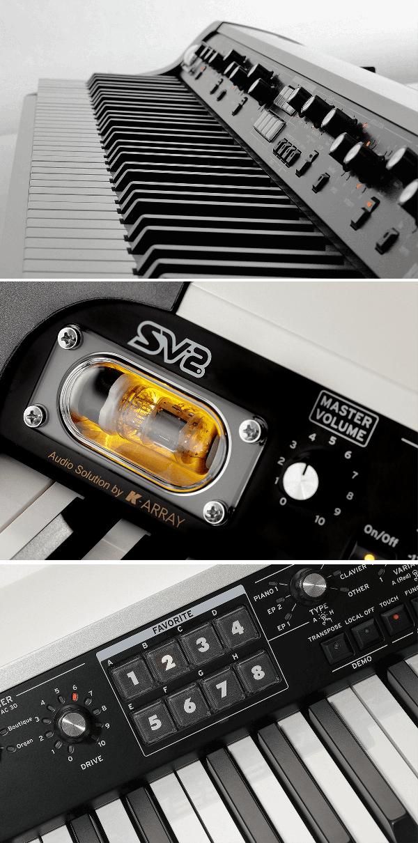 Piano numérique Korg SV2S-73 Vintage-2 - Voir en grand