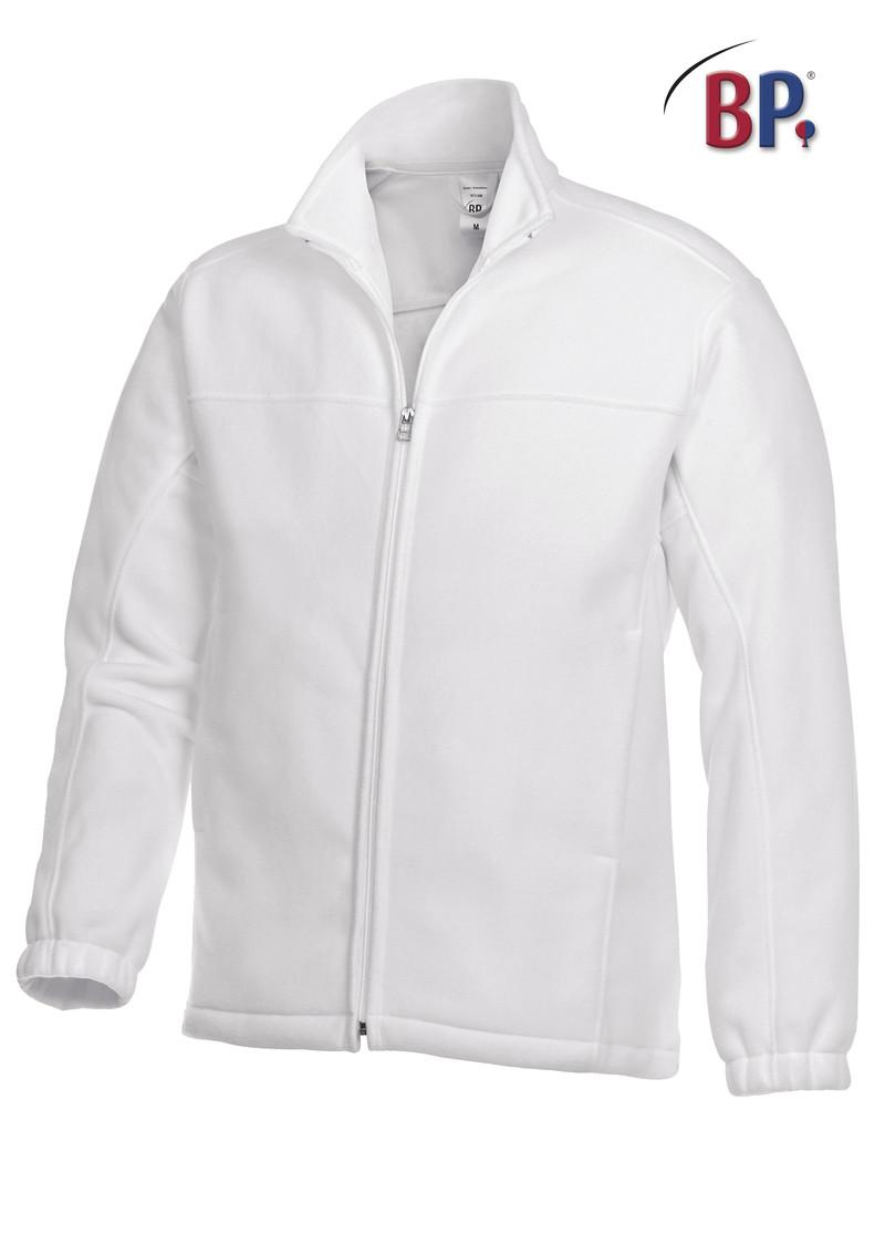 Veste polaire blanche BP - Voir en grand