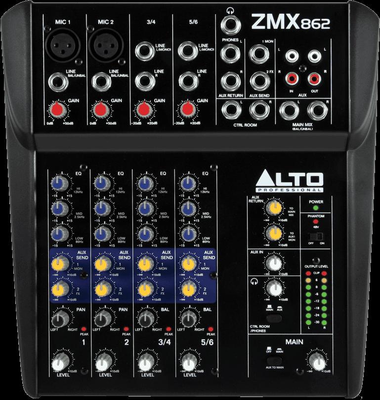 Table de mixage Alto ZMX862-2 - Voir en grand